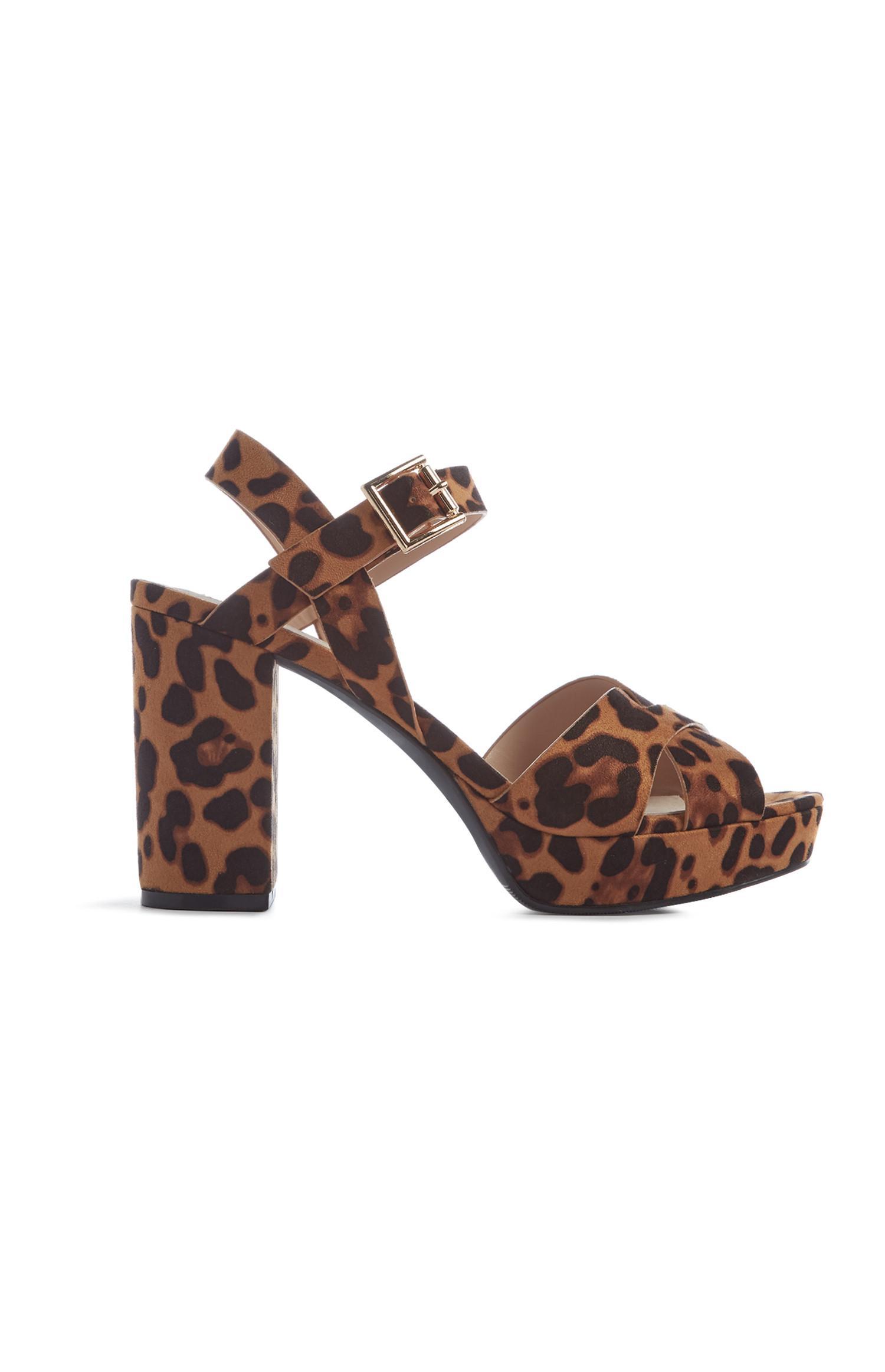 Leopard Print Platform Sandal