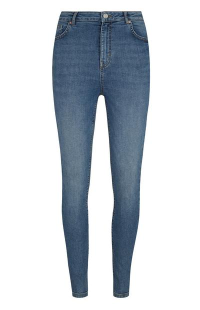 Mid Blue High Waist Jean