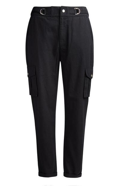 Black Cargo Trouser