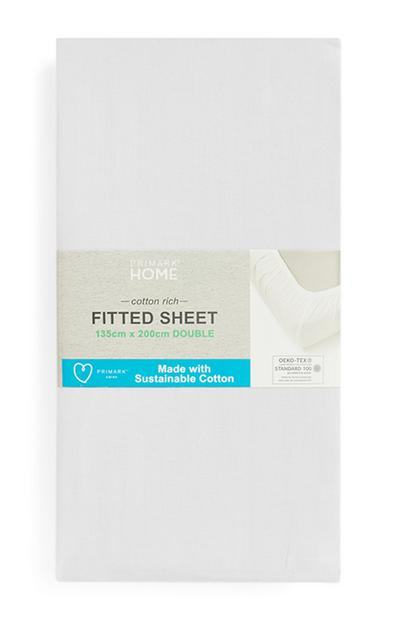 Sustainable Cotton Double Fitted Sheet