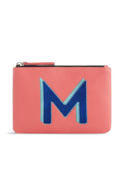 Pink Initial Coin Purse