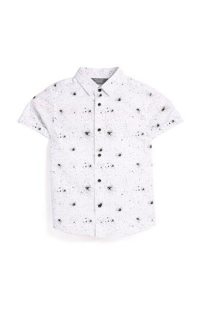 Younger Boy White Paint Splash T-Shirt