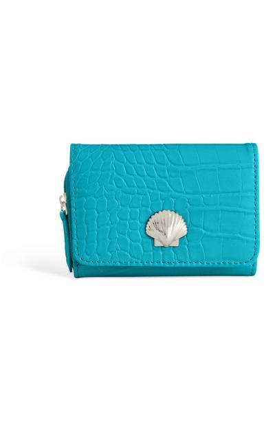 Teal Shell Purse