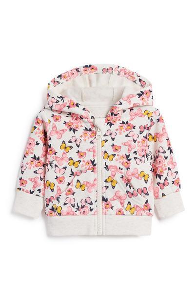 Baby Girl Floral Hoody