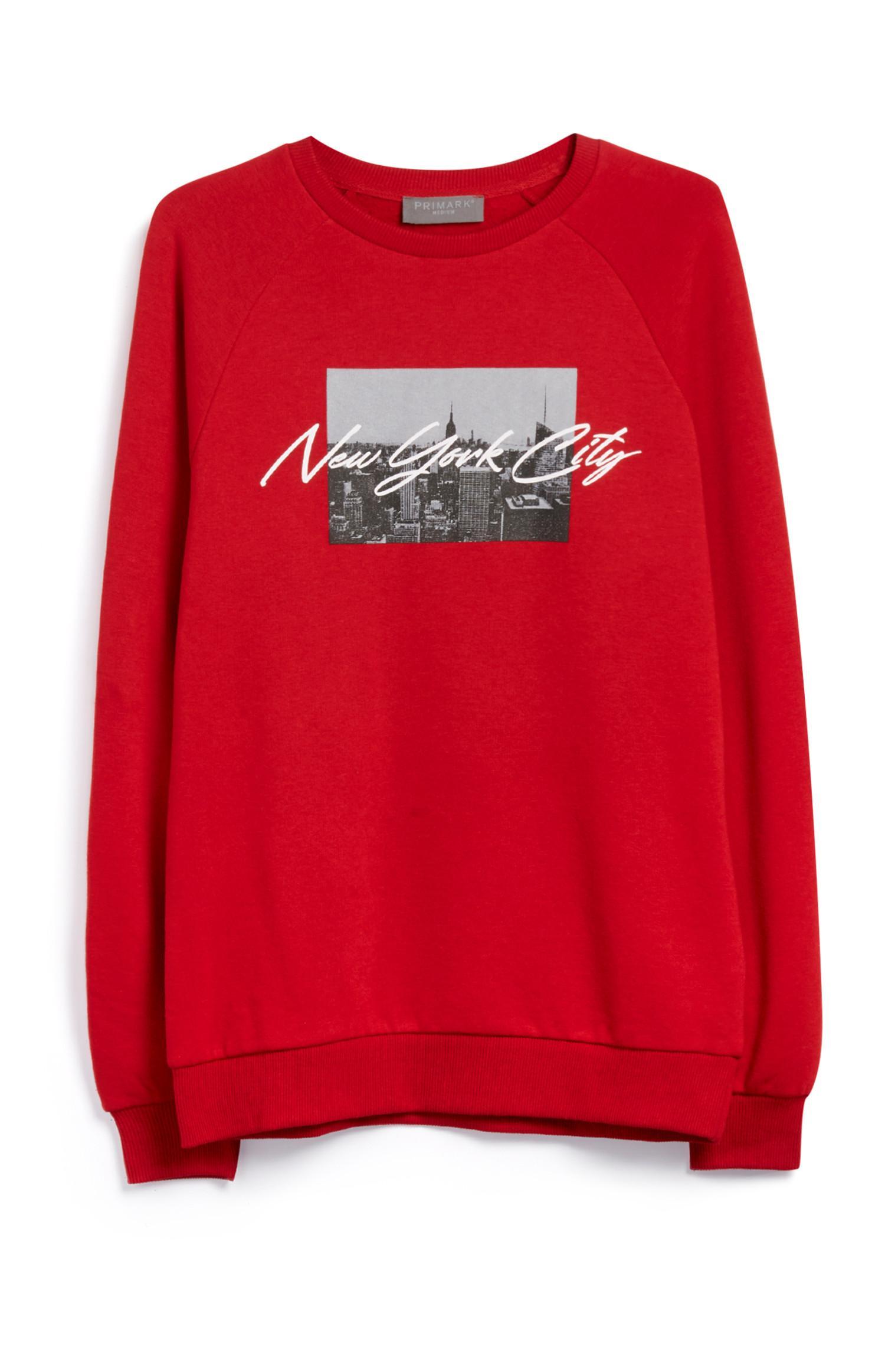 "Rotes ""New York City"" Sweatshirt"
