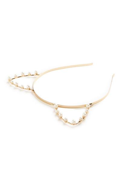 Gold Cat Ears Headband