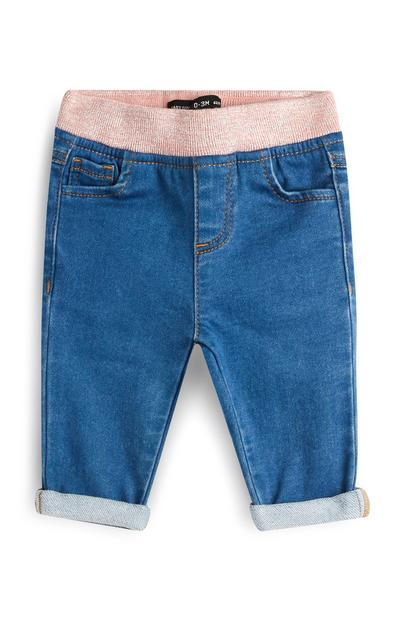 Baby Girl Knitted Waist Jeans