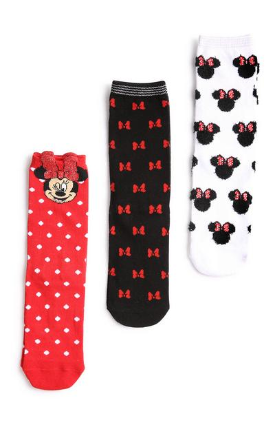 Minnie Mouse Sock 3pk