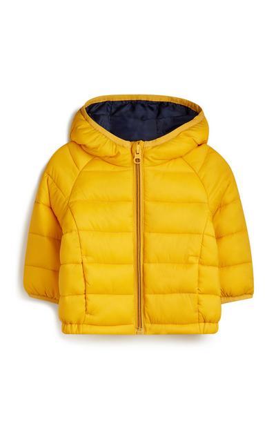 Baby Boy Yellow Puffer Coat