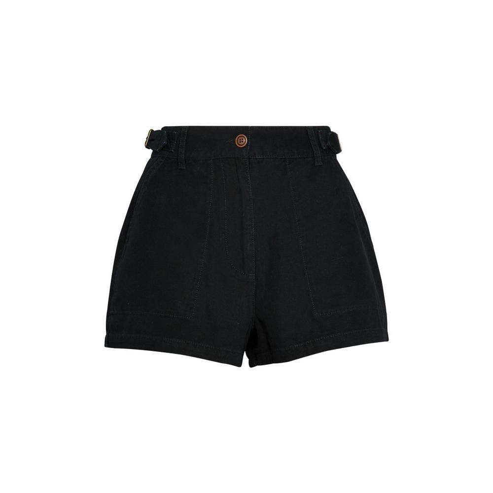 black-utility-shorts by primark