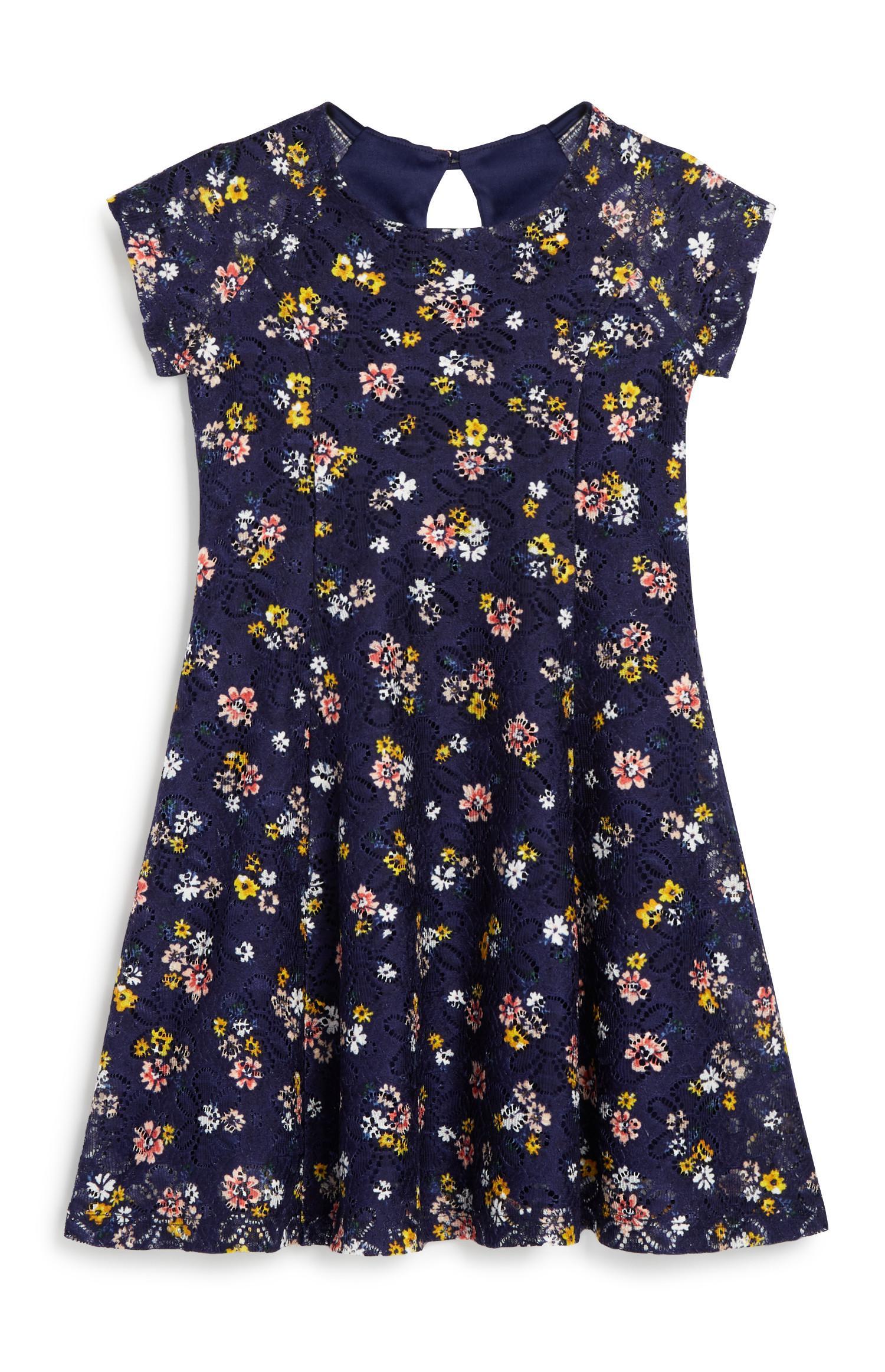 Vestido padrão floral menina