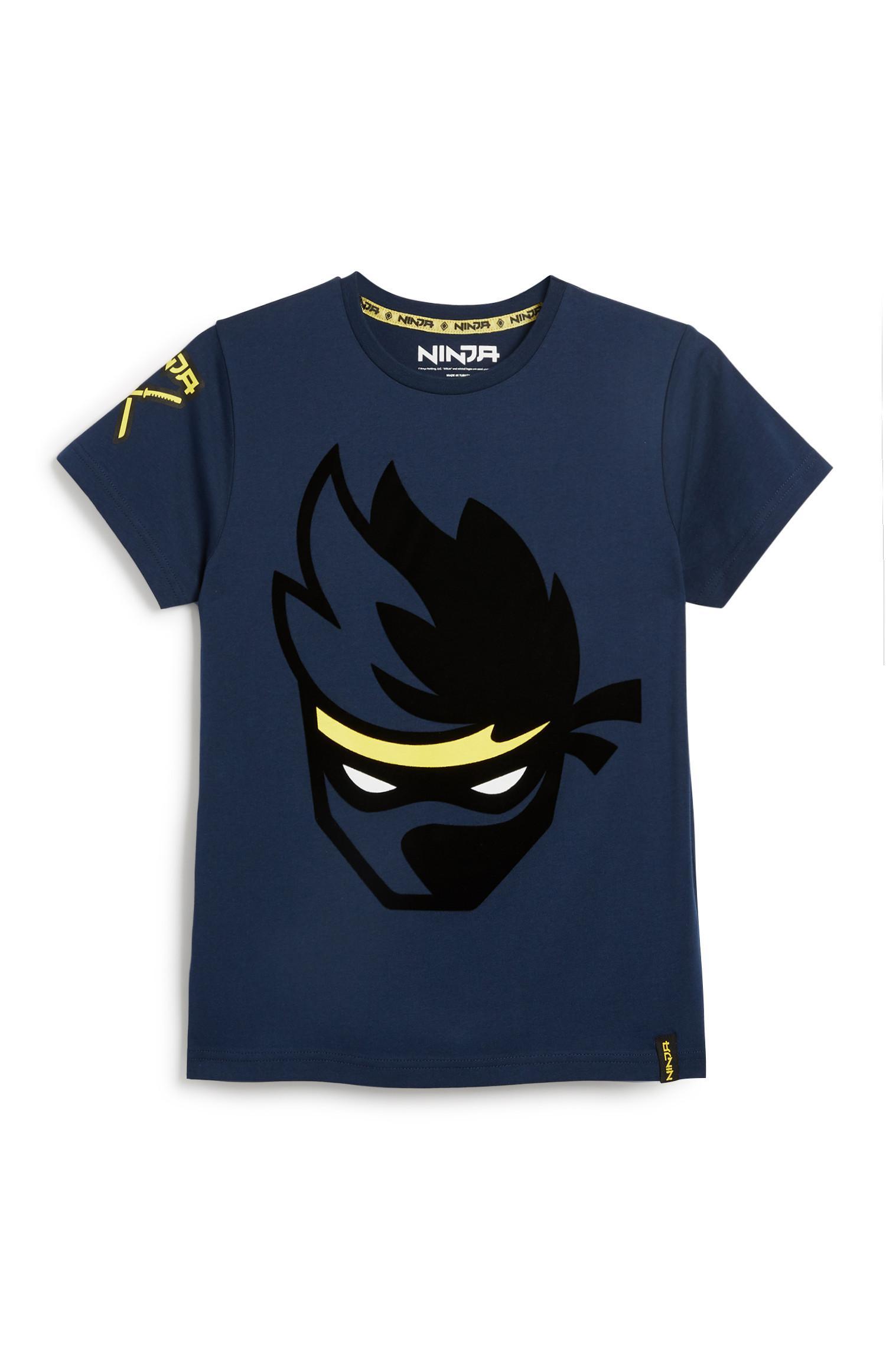 T-shirt Ninja azul-marinho