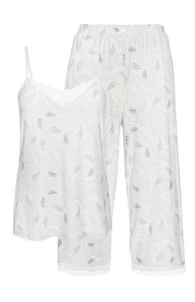 Grey Paisley Pyjama Set