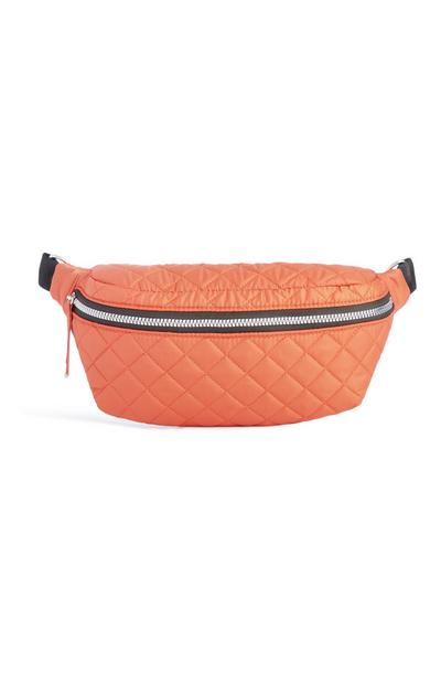 Orange Quilted Bumbag