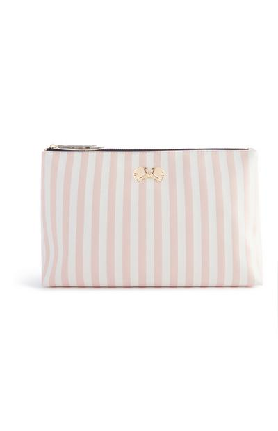 Shell Stripe Make Up Bag