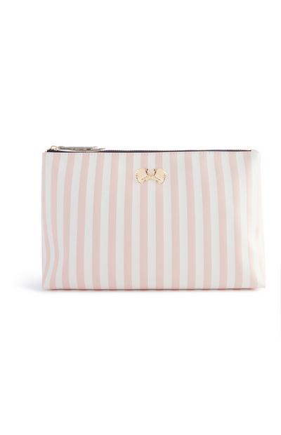 Shell Stripe Make Up Bag