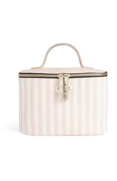 Pink Stripe Box Bag