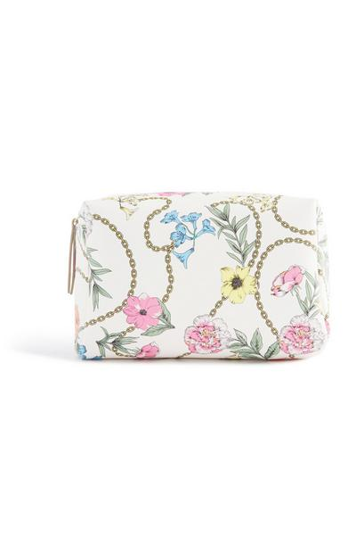 Floral Chain Make Up Bag