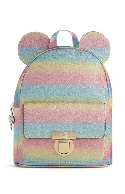 Mickey Mouse Glitter Rainbow Backpack