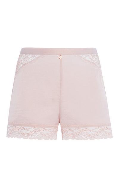 Pink Lace Pyjama Short