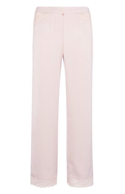 Pink Lace Pyjama Trouser