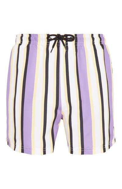 Purple Stripe Short