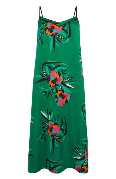 Green Floral Chemise