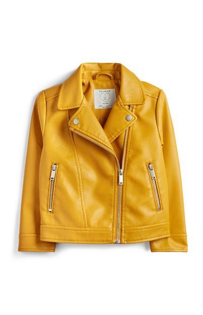 Younger Girl Mustard Biker Jacket