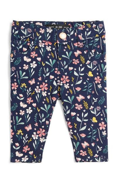 Baby Girl Floral Trousers