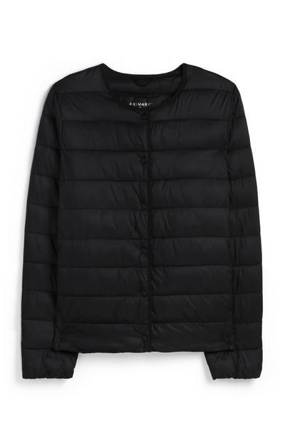 Black Collarless Superlight Jacket