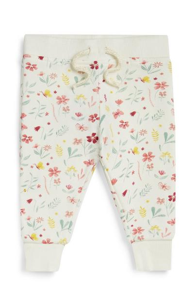 Baby Girl Floral Joggers