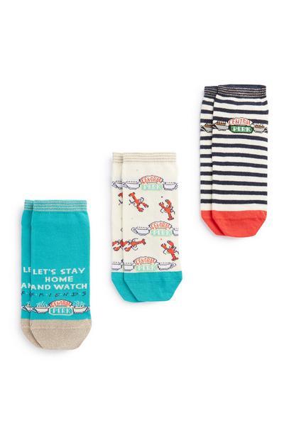 3Pk Friends Socks