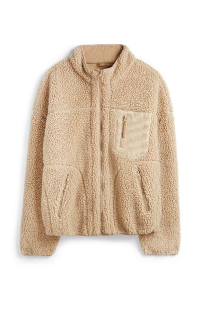Nude Fleece Coat