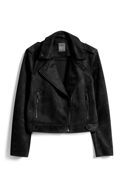 Black Faux Suede Jacket