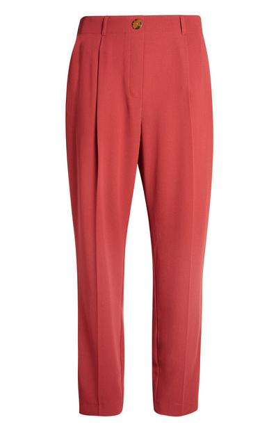 Red Peg Leg Trouser