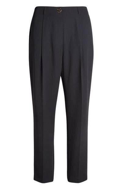 Black Peg Leg Trouser