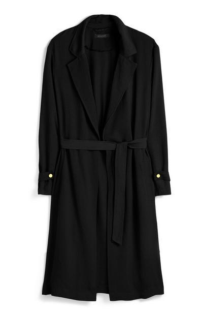 Black Maxi Duster Coat