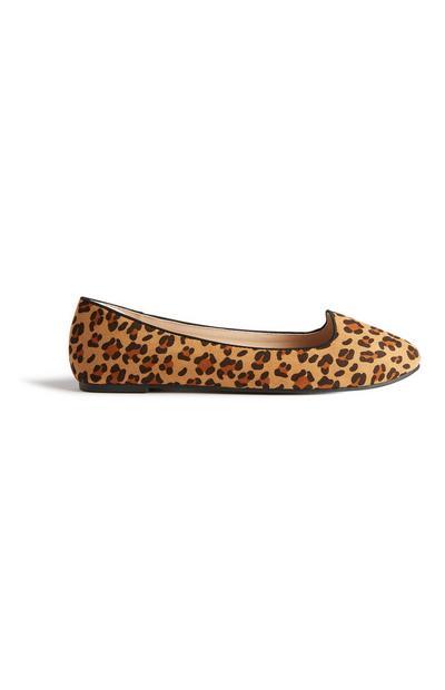 Leopard Print Ballerina Pump