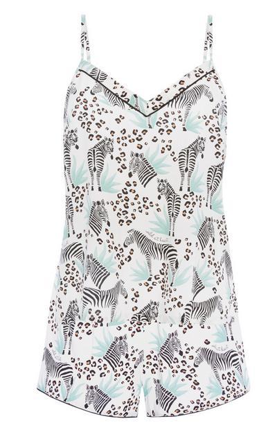 Zebra Pyjama Cami