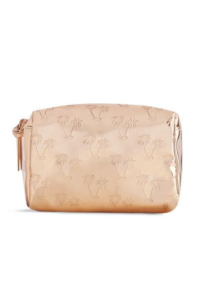 Make-up-Tasche mit Palmenmuster