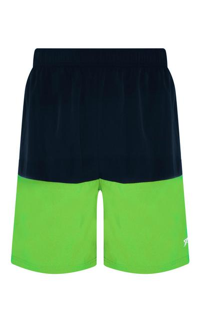 Lime Colour Block Short