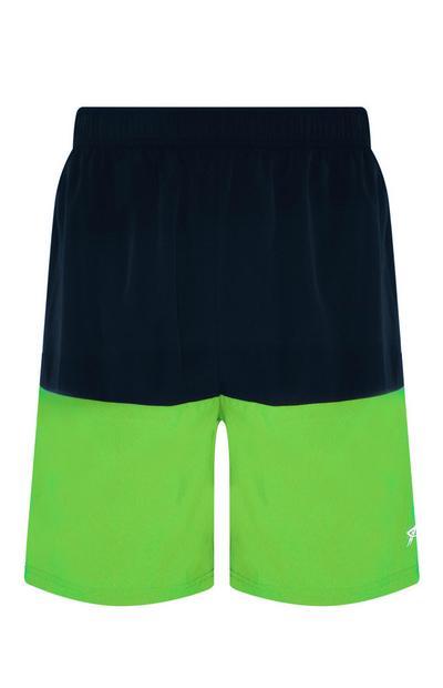 Lime Colour Block Short