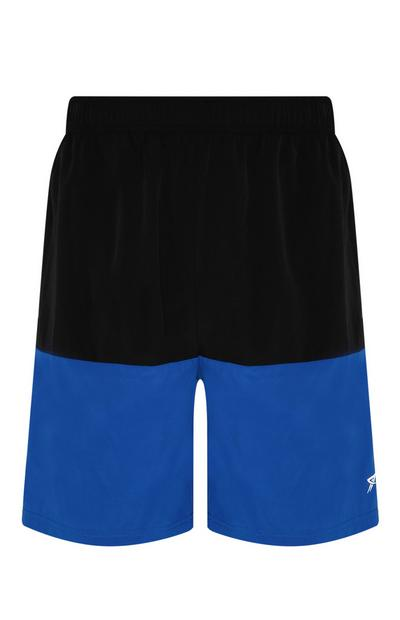 Blue Colour Block Short