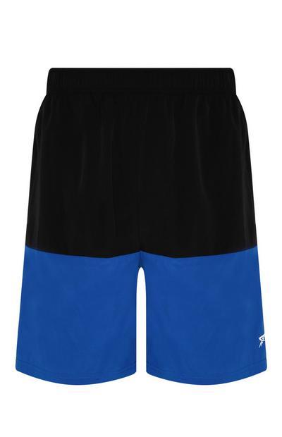 Blue Colour Block Short