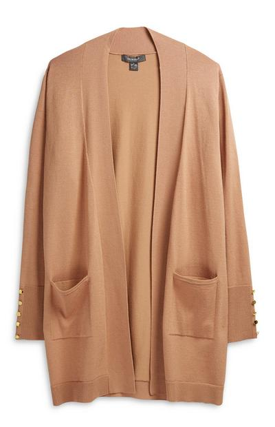 Camel Long Cardigan