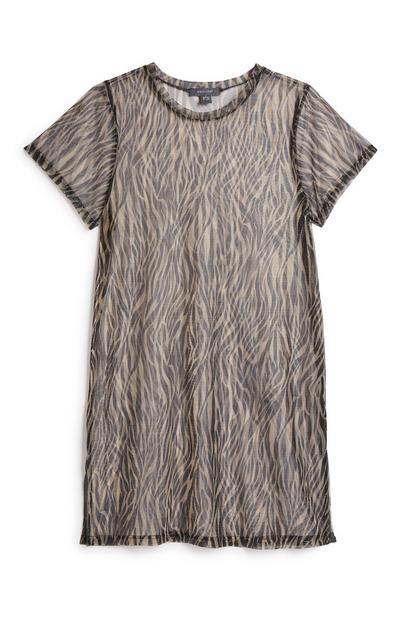 Zebra Mesh Dress
