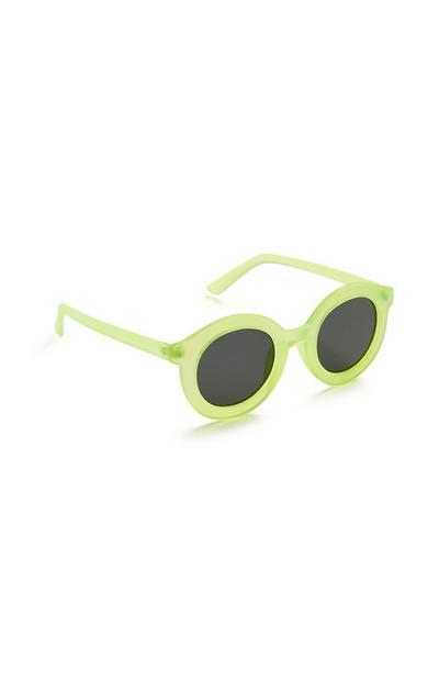 Lime Round Sunglasses