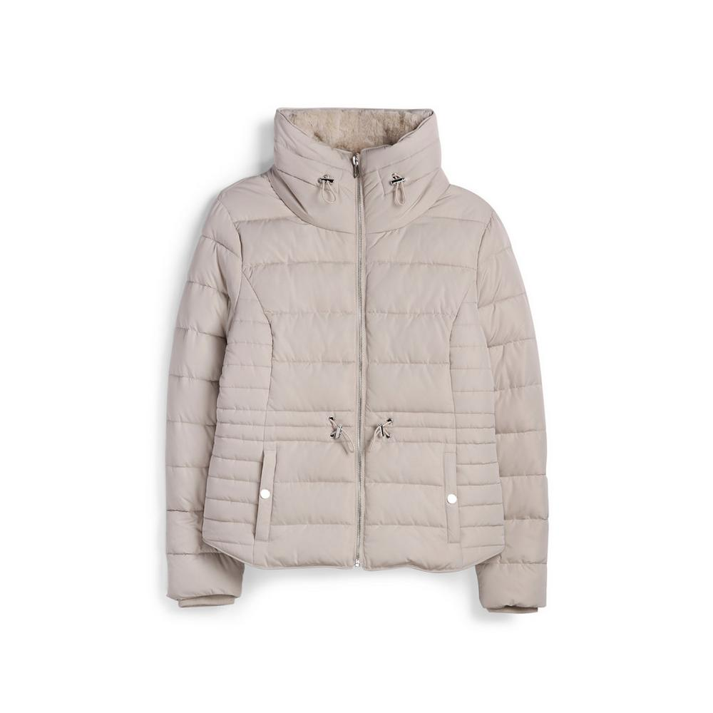 Cream Funnel Padded Jacket by Primark