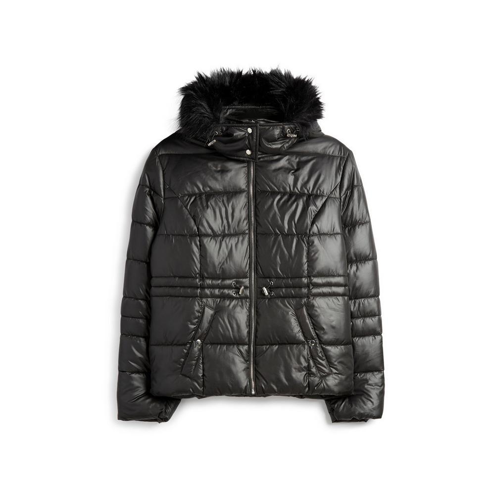 huge discount 1f109 6c213 Giaccone imbottito nero lucido | Cappotti | Giacche e ...
