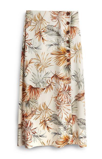 Floral Button Skirt